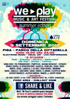 9 settembre We Play Festival