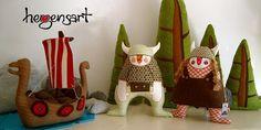 KUTTUNA: Herzensart: Muñecos vikingos