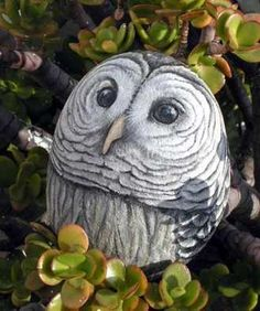 my wonderfull painted rock-owl!!! /  Love this.  Nice to see it coming back.  It was really popular in the 70s