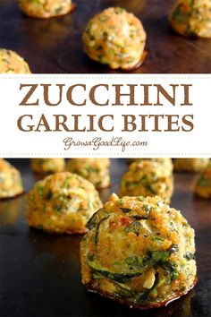 This delicious zucchini garlic bites recipe combines grated zucchini with garlic, Parmesan cheese, fresh herbs, and served with a tomato dipping sauce for an Italian inspired twist.