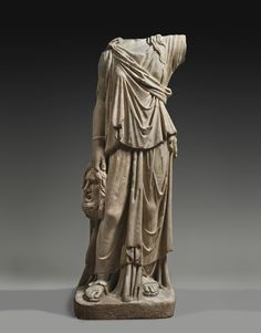 A Marble Caryatid Figure of the Muse Melpomene circa 2nd Century A.D.