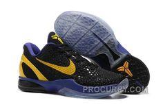separation shoes d552b 67780 Nike Zoom Kobe 6 Black Purple Yellow Basketball Shoes New Arrival