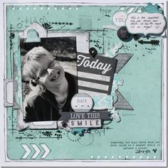 Love this Smile Scrapbook Pages, Scrapbook Layouts, Scrapbooks, Dream Big, Teen, Memories, Black And White, My Love, Boys