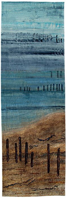 Sussex Coast by Terry Donaldson.  Judge's Choice award, Quilt Fest 2015.  Contemporary Quilt Group (UK).