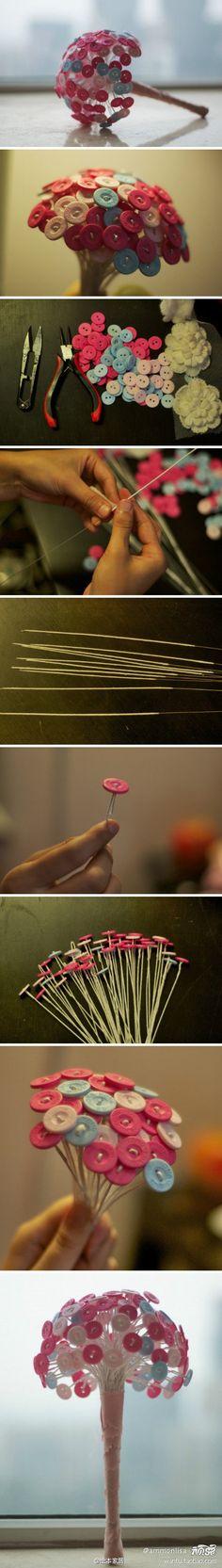 Knopfblume selbst gemacht