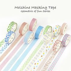 Molshine 12 Rolls Decorative Japanese Washi Masking Adhesive Sticky Paper Tape for Crafts Scrapbooks Day Planners Phone DIY Decoration06 x 76 yd -- To view further for this item, visit the image link.Note:It is affiliate link to Amazon.