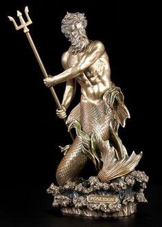Poseidon Figur - Gott des Meeres - Veronese Neptun Statue Deko Bad in Möbel & Wohnen, Dekoration, Dekofiguren   eBay