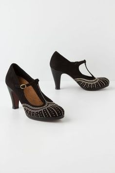 I have a thing for T-strap heels... Anthropologie