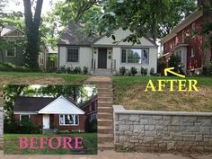 WOW! You've got to see this Before and After house. Such a cute cottage house with great ideas, paint colors and more!