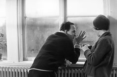 Director Ingmar Bergman and actress Ingrid Thulin during the filming of Winter Light, Ingmar Bergman, Film Aesthetic, Winter Light, Film Quotes, Alfred Hitchcock, Film Director, Filmmaking, Behind The Scenes, Writer