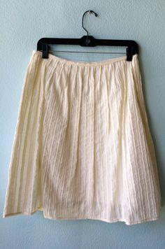 Max Studio off white skirt 4 #beige #max-studio #size-4 #skirt #white