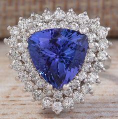 5.45ctw Precious Stones-genuine Amethyst,tanzanites&topazes Size 6 Fine Jewelry Ladies Ring Fine Rings