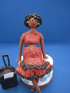 Custom Pregnant Lady Cake Topper.