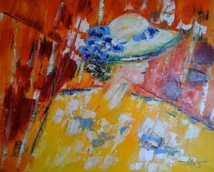 Woman in Sunhat, 26x32 by Vilcaz.  Available at The Westport River Gallery. http://www.westportrivergallery.com/vilcaz-corrine-french-expressionist.html