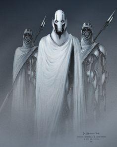 General Grievous and Henchmen (Magnaguard) concept art by Warren Fu. : StarWars
