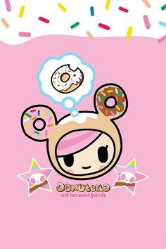 tokidoki donut girl who thinks on eating donuts