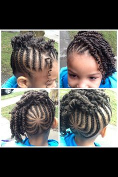 Cute cornrow and twist updo