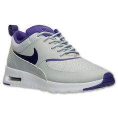 Women\u0026#39;s Nike Air Max Thea Running Shoes | Finish Line | Silver Wing/Cout Purple
