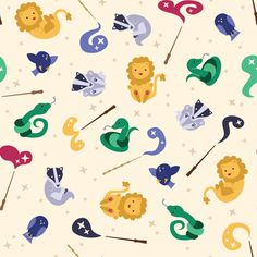Baby Hogwarts - Lumos fabric by kritterstitches on Spoonflower - custom fabric