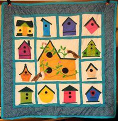 Applique Birdhouse Quilt