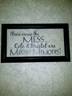 The sign I made for the kids playroom!