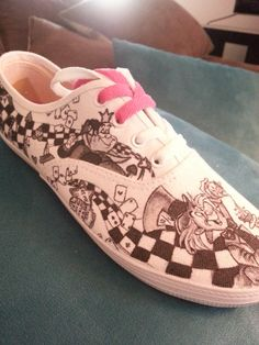 WRAPAROUND ARTWORK Disney s Alice in Wonderland Custom Made Shoes Artwork  and Shoes (ie. Vans 81ccc60f1