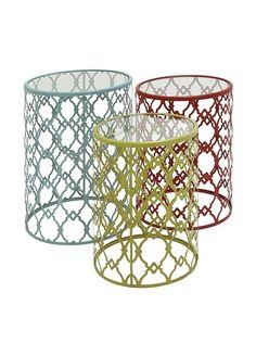 Set of 3 Metal Glass Accent Tables, Multi, http://www.myhabit.com/redirect/ref=qd_sw_dp_pi_li?url=http%3A%2F%2Fwww.myhabit.com%2Fdp%2FB00SGYLMF4%3F