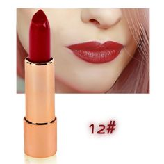 New 12 Colors Waterproof Lipsticks with Mirror Brand Makeup Easy to Wear Lip Stick Balm Cosmetics Matte Maquiagem M3 #Affiliate
