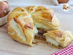 Hojaldre de camembert con jamón y cebolla, foto 1
