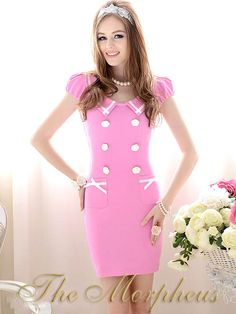 Wholesale Lady's Slim Fit Turn-down Collar Dress In Pink Pink Outfits, Short Outfits, Pretty Outfits, Cheap Dresses, Cute Dresses, Pink Dresses, Pink Fashion, Fashion Outfits, Fashionable Outfits