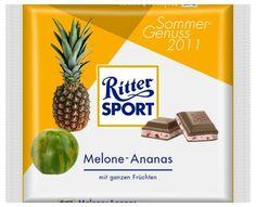 RITTER SPORT Fake Schokolade Melone-Ananas