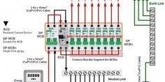 Wiring of the Distribution Board with RCD , Single Phase,(from Energy Meter to the main
