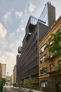 American studio ODA's luxury condominium building, called 15 Renwick, is located on a secluded street near Soho, and is surrounded by low-scale structures faced with brick and stone.