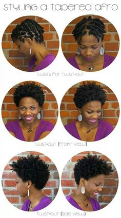 Styling a Tapered Afro