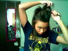 Cheerleading Hair Tutorial *POOF* I'll be needing to master this skill for wrestling season