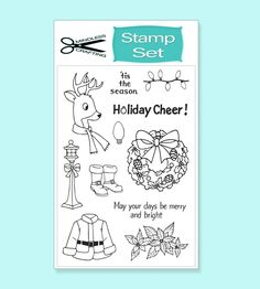 Holiday Cheer Stamp Set Cards Diy, Merry And Bright, Tis The Season, Holiday Fun, Cardmaking, Cheer, Stamps, Crafting, Projects