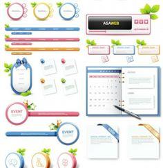 web design templates of banners site navigation menus buttons web . Ui Elements, Design Elements, Free Vector Graphics, Vector Icons, Web Design, Clip Art, Creative, Free Icon, Design Templates