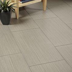 Arizona Tile - Fibra linen porcelain tile. Potential for hall bath floor.