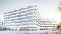 Post AG Zentrale Rochusmarkt Wien 23.000 m2 Büros, 9.000 m2 Einzelhandel, 6.000 m2 Tiefgarage