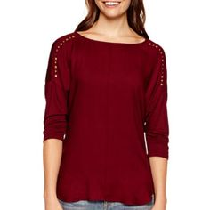 a.n.a® 3/4-Sleeve Embellished Top  found at @JCPenney