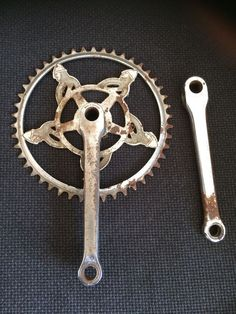 VINTAGE NORMAN CYCLES BICYCLE CHAINSET / CRANKS FOR 3 SPEED BIKE 46T 3/32 V RARE