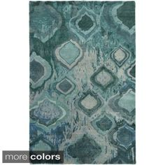 Shop for Hand-Knotted Glenn Abstract Wool Rug (8' x 11'). Get free shipping at Overstock.com - Your Online Home Decor Outlet Store! Get 5% in rewards with Club O! - 17197046
