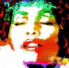 Female Singers Paintings - Whitney Painting  by Daniel Janda