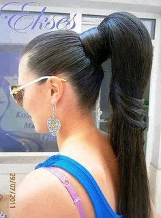 Try to wear most of the times the hair cap or scarves to prevent your hairs from fast uv Long Ponytail Hairstyles, Long Hair Ponytail, Sleek Hairstyles, Braids For Long Hair, Straight Ponytail, High Ponytails, Braided Hair, Blonde Hair Black Girls, Bridal Hair Buns