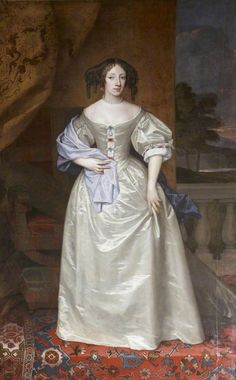 Princess Henrietta (1644 - 1670) Daughter of King Charles I and wife of Philippe of France By Sir Peter Lely