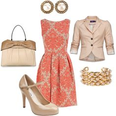 Damask Dress for the Office