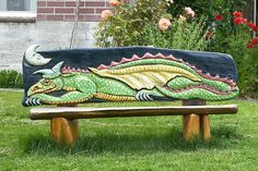 Dragon Bench, Langley, Whidbey Island, Washington