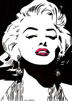 64 Best Marilyn monroe stencil images in 2020 Marilyn Monroe Stencil, Marilyn Monroe Pop Art, Marilyn Monroe Painting, Marilyn Monroe Portrait, Marilyn Monroe Photos, Pop Art Wallpaper, Black And White Painting, Silhouette Art, Arte Pop