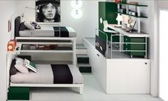 Loft beds can easily be seen as the grown-up interpretation of the bunk bed and when a simple loft bed is transformed into a loft bedroom, the results are quite interesting and fun. The Tiramolla Loft bedrooms, by Tumidei, are not only innovative but cool as heck.