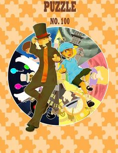 Professor Layton and Luke with their many adventures together.